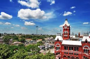 Chennai Central Railway station, India copy