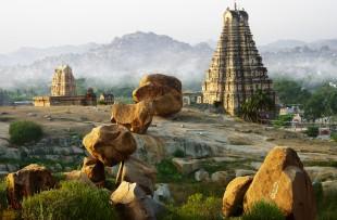 Hampi and its strange landscape, Karnataka, India copy