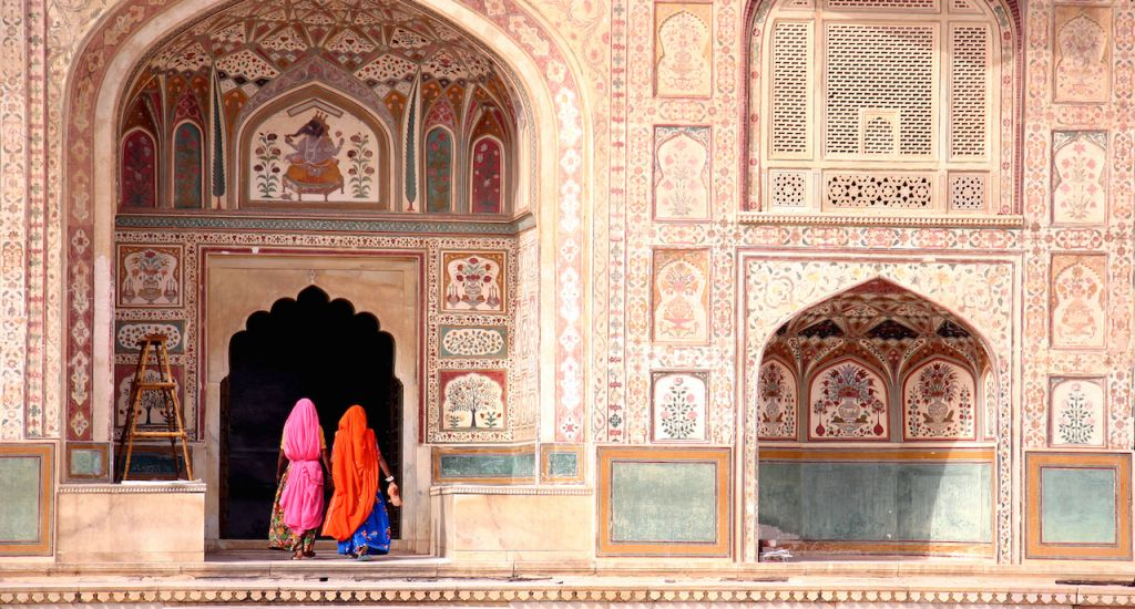 Jaipur | Two women walking in the Amber Fort, Jaipur copy