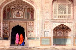 Jaipur | Two women walking in the Amber Fort, Jaipur copy