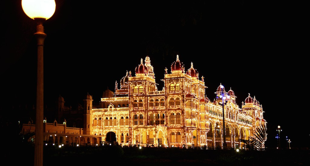 Mysore Palace at night copy