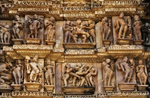 STONE CARVINGS AT KHAJURAHO  copy