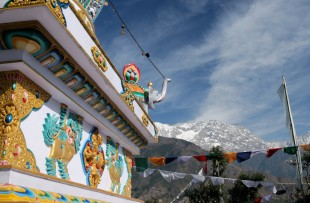 One of the most important churches for Tibetans, Kalaczakra temples in Dharamsala, McLeod Ganj, India copy